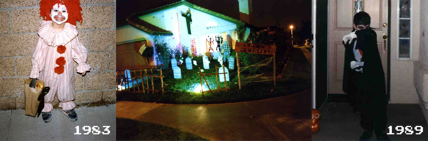 Mike Wilton Halloween 83 & 89 and his haunted yard