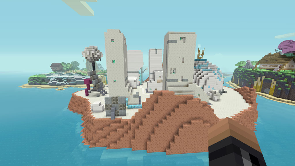 The Virtual Reality Island from Adventure Time in Minecraft