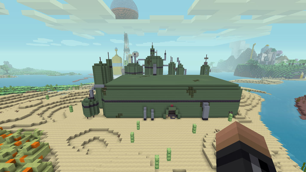 The pre-war MO Co. Factory in Minecraft Adventure Time Mashup