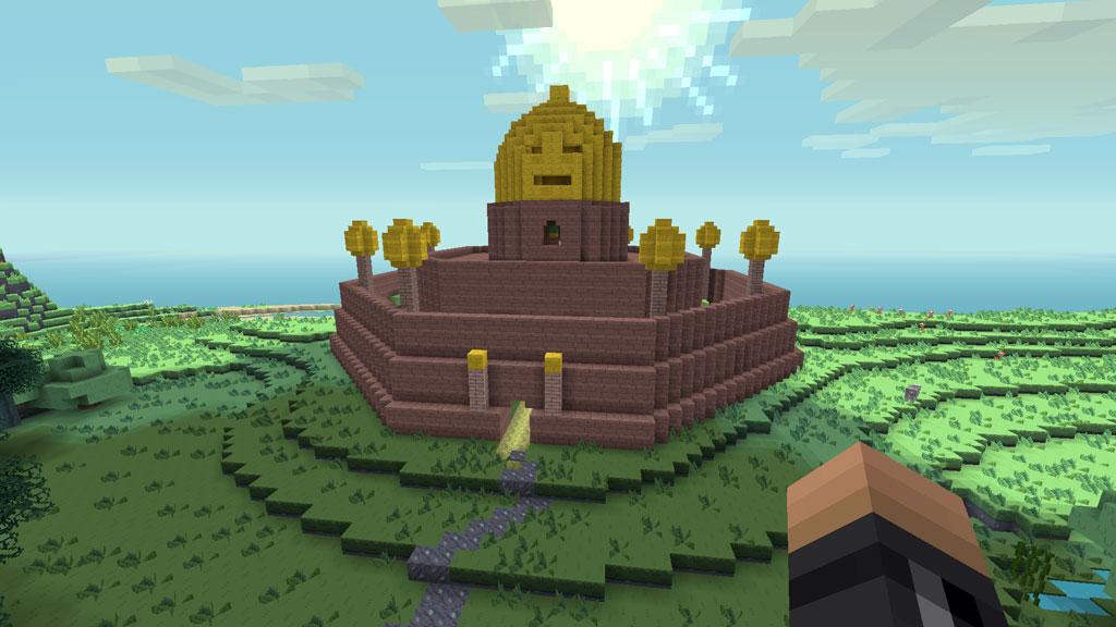 Castle Lemongrab in Minecraft Adventure Time Mashup