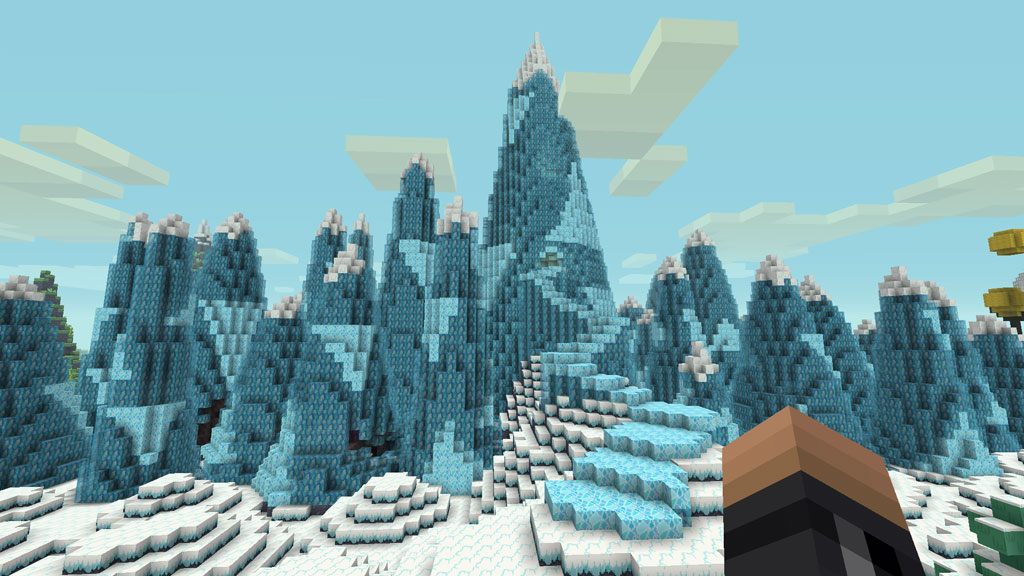 Ice King's Ice Kingdom in Minecraft Adventure Time Mashup