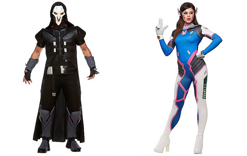Reaper and D.Va costumes Spirit Halloween  sc 1 st  All Hallows Geek & Nick Toons Hocus Pocus u0026 Overwatch from Spirit Halloween 2017 ...