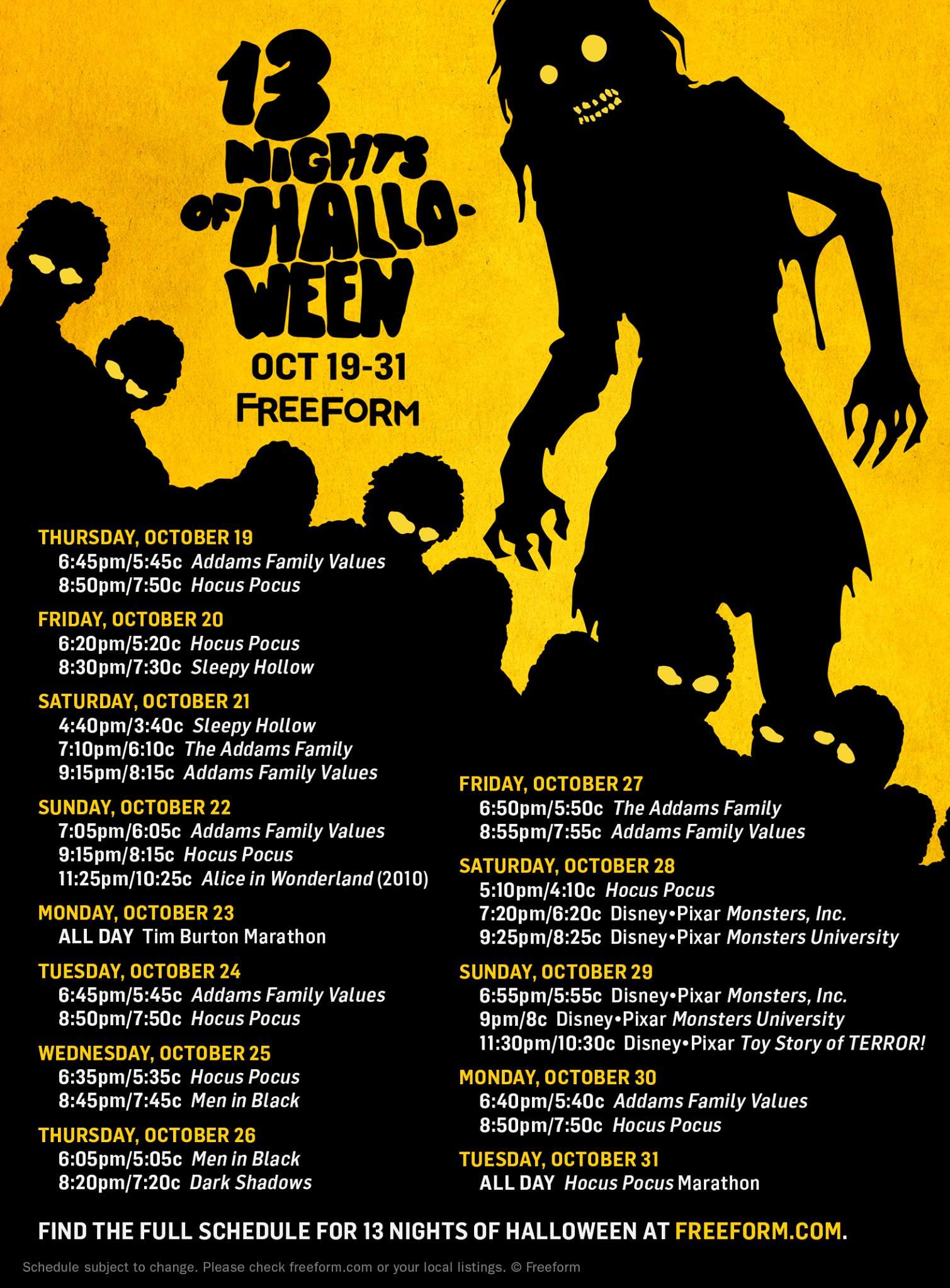 13 nights of halloween 2017 lineup