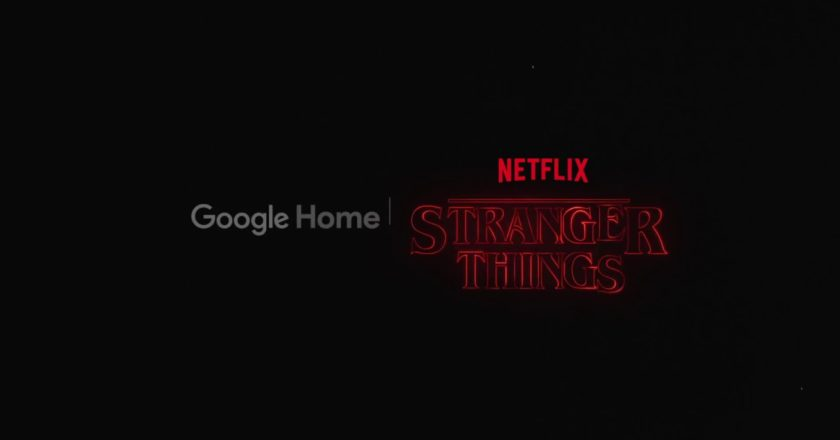 Title card for the Google Home Stranger Things game promo