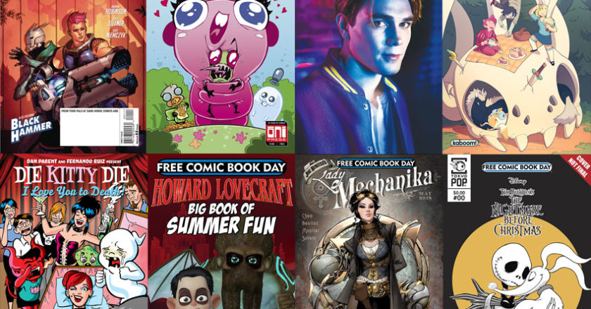 A selection of comics from Free Comic Book Day 2018