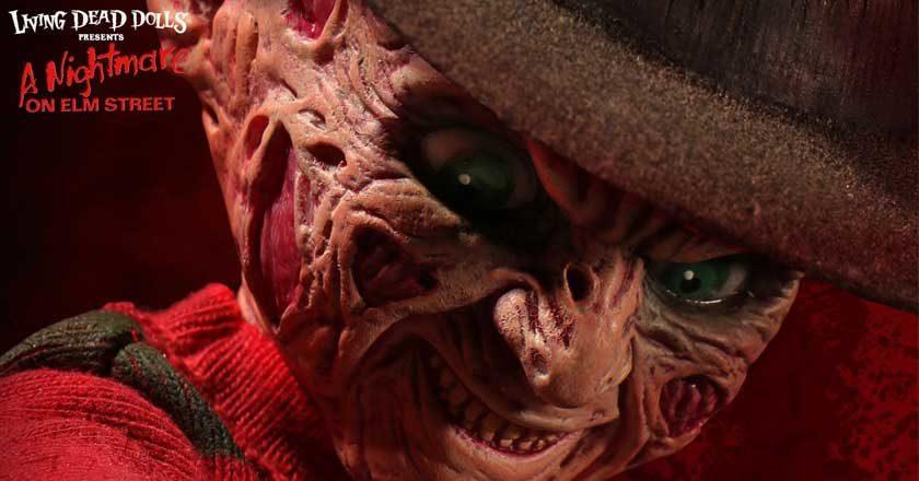 Face of the Freddy Krueger Living Dead Doll