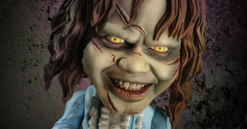 The face of the Stylized Exorcist toy from Mezco Toyz
