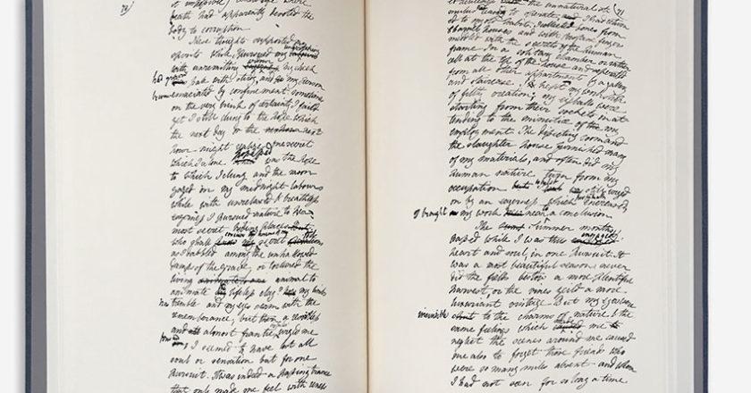 Frankenstein Manuscript open