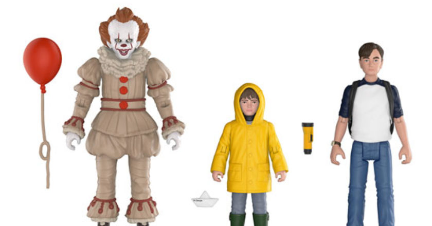 Pennywise, Georgie and Bill action figures and accessories