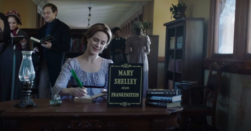 Evan Rachel Wood portraying Mary Shelley in Comedy Central's Drunk History