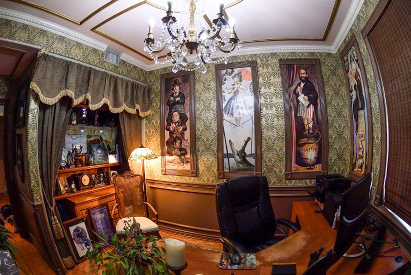 Photo Of Donna Collinsu0027 Haunted Mansion Inspired Home Office