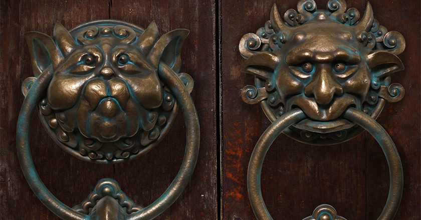 Set of Labyrinth Door Knocker Replicas from Chronicle Collectibles