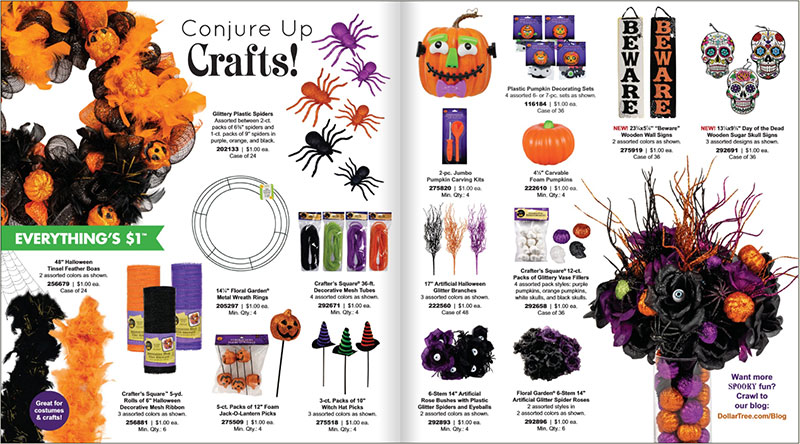 Avon Halloween 2020 Dollar Tree Drops a 12 Page Catalog of Their 2019 Halloween