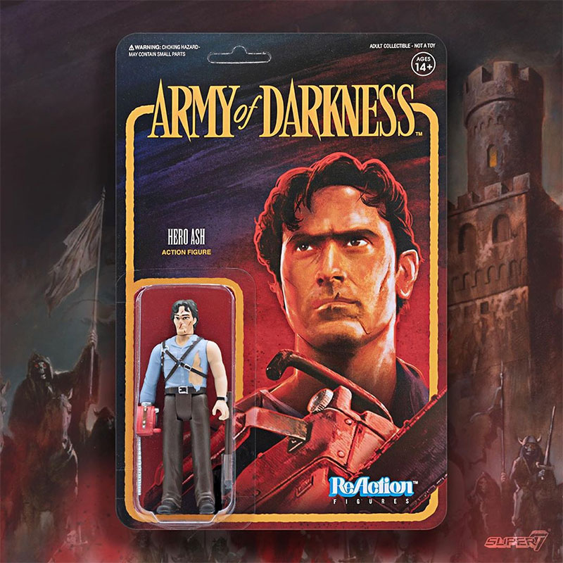 Hero Ash Army of Darkness Super 7 ReAction figurine