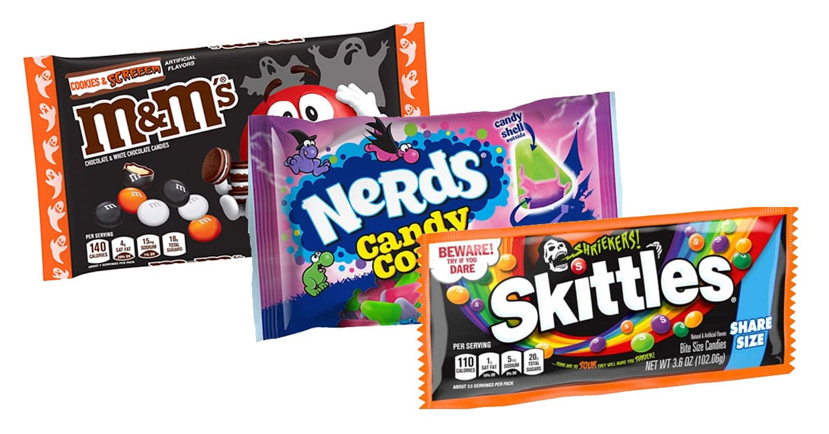 Halloween Nerds Candy.Get Your First Taste Of 2021 Halloween Candy From Skittles Nerds And M M S All Hallows Geek